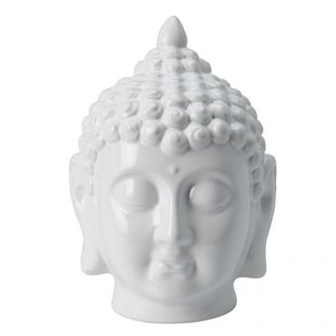 Statueta Buddha din ceramica alba 12x17 cm
