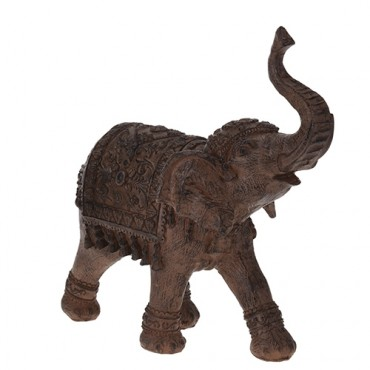 Statueta Elefant maro din polirasina 25x9x16 cm - 2 modele la alegere