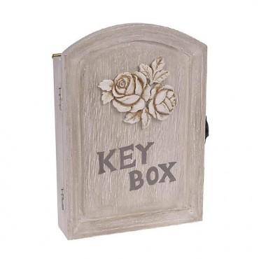 Suport pentru chei Rose din lemn 17x24 cm