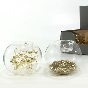 Suport pentru lumanare din sticla 8 cm - modele diverse