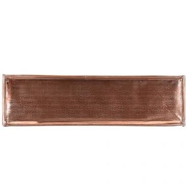 Tava Copper din metal aramiu 46x13 cm - 4 modele disponibile