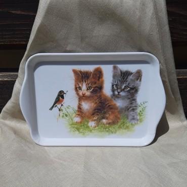 Tava Kitten Friend din melamina 13x21 cm
