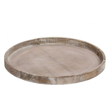 Tava rotunda Natura din lemn maro 40 cm
