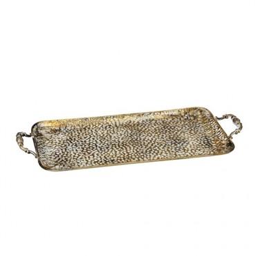 Tava Vintage din metal auriu 45x25 cm