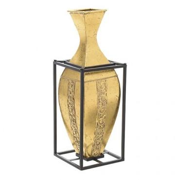 Vaza aurie cu suport 21x60 cm