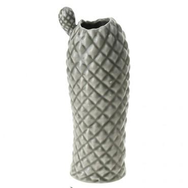 Vaza Cactus din ceramica gri 26 cm