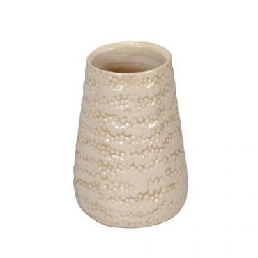 Vaza Delicate din ceramica crem 13x18 cm