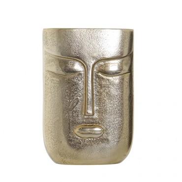 Vaza Face din metal auriu 15x23 cm