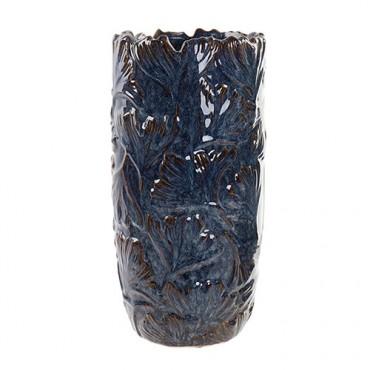 Vaza Ginko din ceramica albastra 16x32 cm