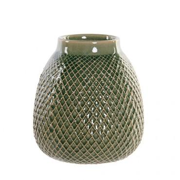 Vaza Green din ceramica verde 15x17 cm