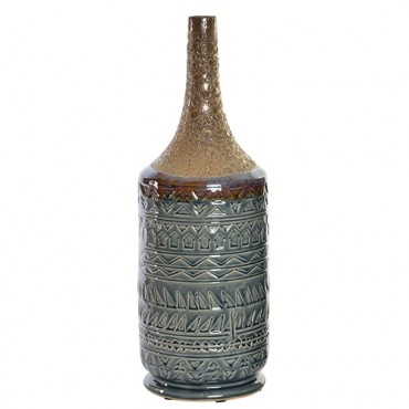 Vaza Motif din ceramica maro 25x53 cm