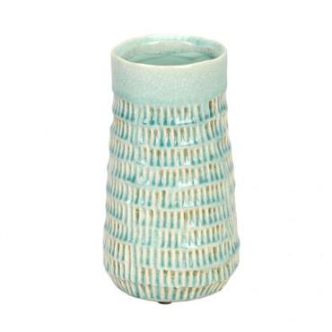 Vaza Pastel din ceramica turcoaz 11x20 cm