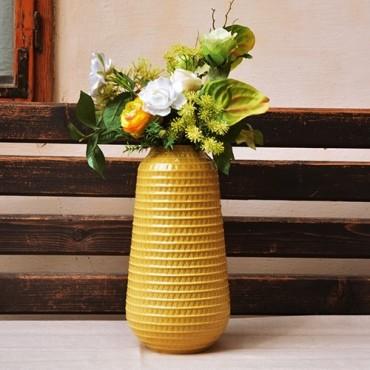 Vaza Yellow din ceramica galbena 38 cm