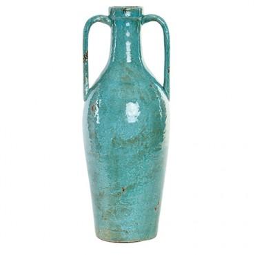 Vaza Blue din ceramica turcoaz 20x51 cm