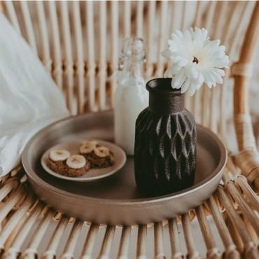 Vaza Dark Grey din ceramica 16 cm