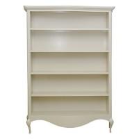 Biblioteca Catherine din lemn alb 143x33x203 cm