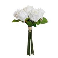 Buchet de trandafiri decorativi albi 30 cm
