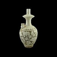 Ulcior decorativ Traditio din portelan crem cu oliv 17x34 cm