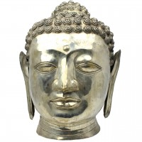 Statueta din alama cap de Buddha 55 cm