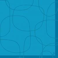 Servetele decorative din hartie albastra cu cercuri 40 cm