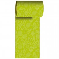 Napron in rola din hartie verde cu flori 200x15 cm