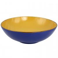 Bol din ceramica albastra cu galben 32 cm