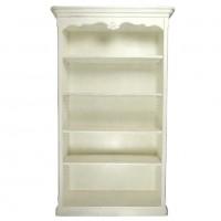 Biblioteca Tresor din lemn alb 120x42x207 cm