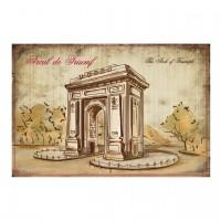 Carte postala din carton cu Arcul de Triumf