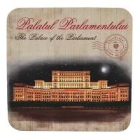 Suport pahar cu Palatul Parlamentului din carton presat