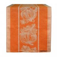 Runner din bumbac portocaliu cu dovleac 250x50 cm