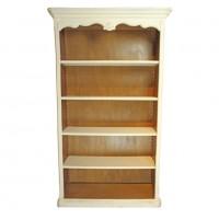 Biblioteca Tresor din lemn alb cu maro deschis 207 cm