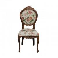 Scaun tapitat din lemn maro 110 cm