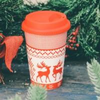 Cana Reindeer din portelan 9 cm