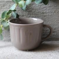 Cana Delicacy din ceramica taupe 9 cm