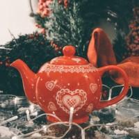 Ceainic Winter din ceramica 15 cm