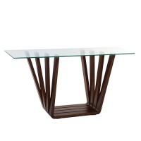 Consola Nova din lemn si sticla 145x45x75 cm
