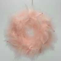 Coronita cu pene roz 20 cm
