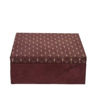 Cutie Burgundy din lemn 24x9 cm