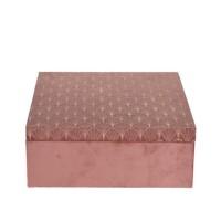 Cutie Old Pink din lemn 24x9 cm