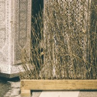 Deco Bamboo Golden din lemn 70 cm