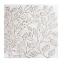 Deco perete Leaves din lemn finisat manual 90x90 cm