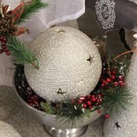 Deco sfera silver 26 cm