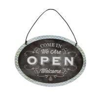 Decoratiune Open & Close din metal 15x11 cm
