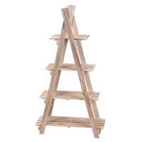 Etajera Ladder din lemn natur 112x27 cm