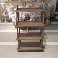 Etajera Felicia din lemn maro 68x30x120 cm