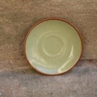 Farfurie de desert Gardena din ceramica verde 14 cm