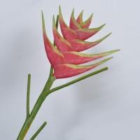 Floare decorativa Heliconia visinie 95 cm