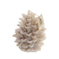 Lumanare Pinecone din ceara crem 13 cm