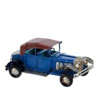 Macheta Vintage Car din metal albastru 5 cm
