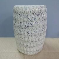 Masuta Deco din portelan alb marmorat 45 cm